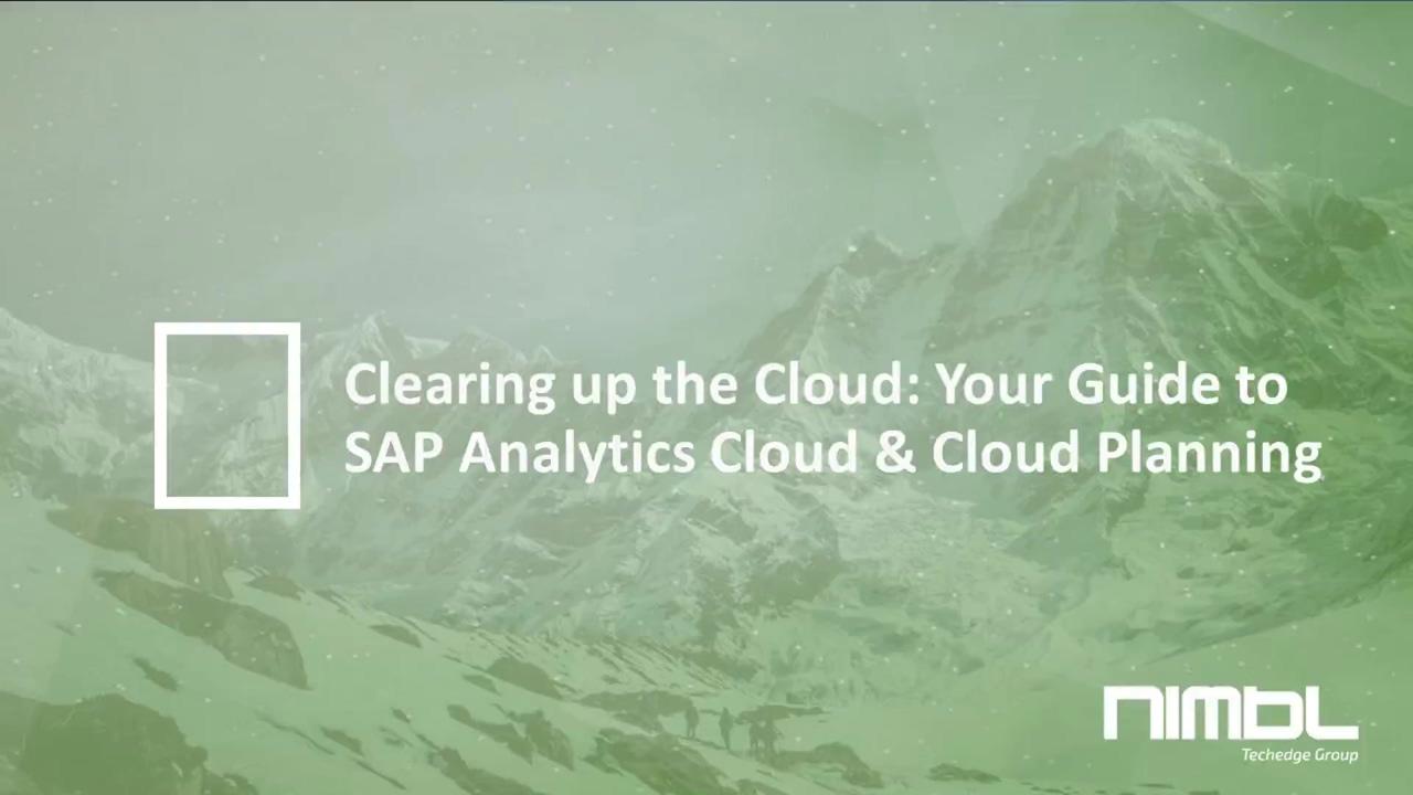 Webinar- An Overview of SAP Analytics Cloud & Cloud for Planning (1)