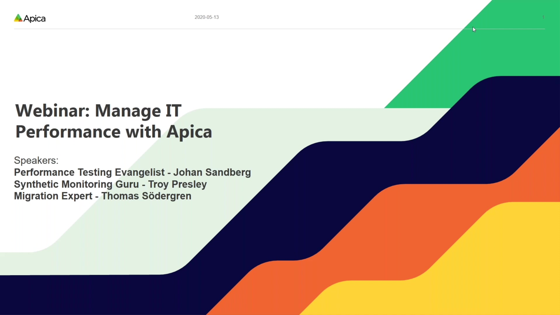 Webinar_ Mange IT Performance with Apica