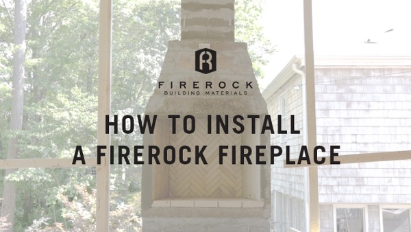 FireRock Fireplace Installation