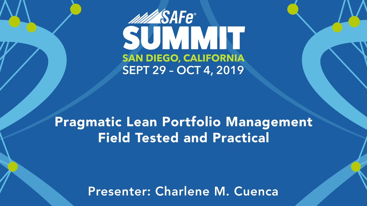Pragmatic Lean Portfolio Management - Field Tested and Practical