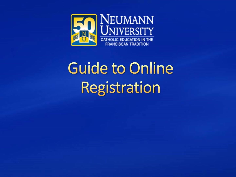 Guide to Online Registration