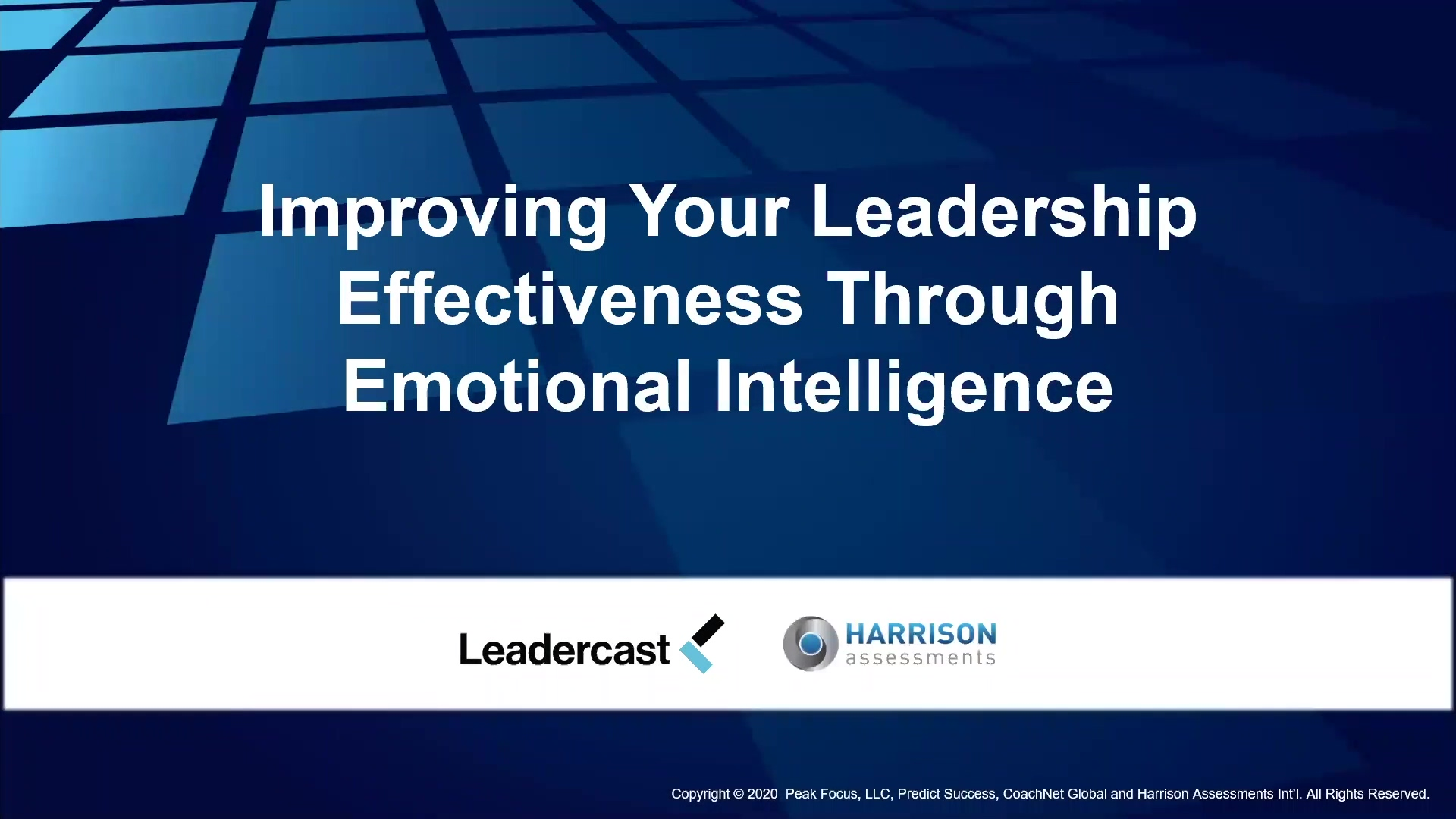 03-25 Improving Your Leadership Through Emotional Intelligence-1