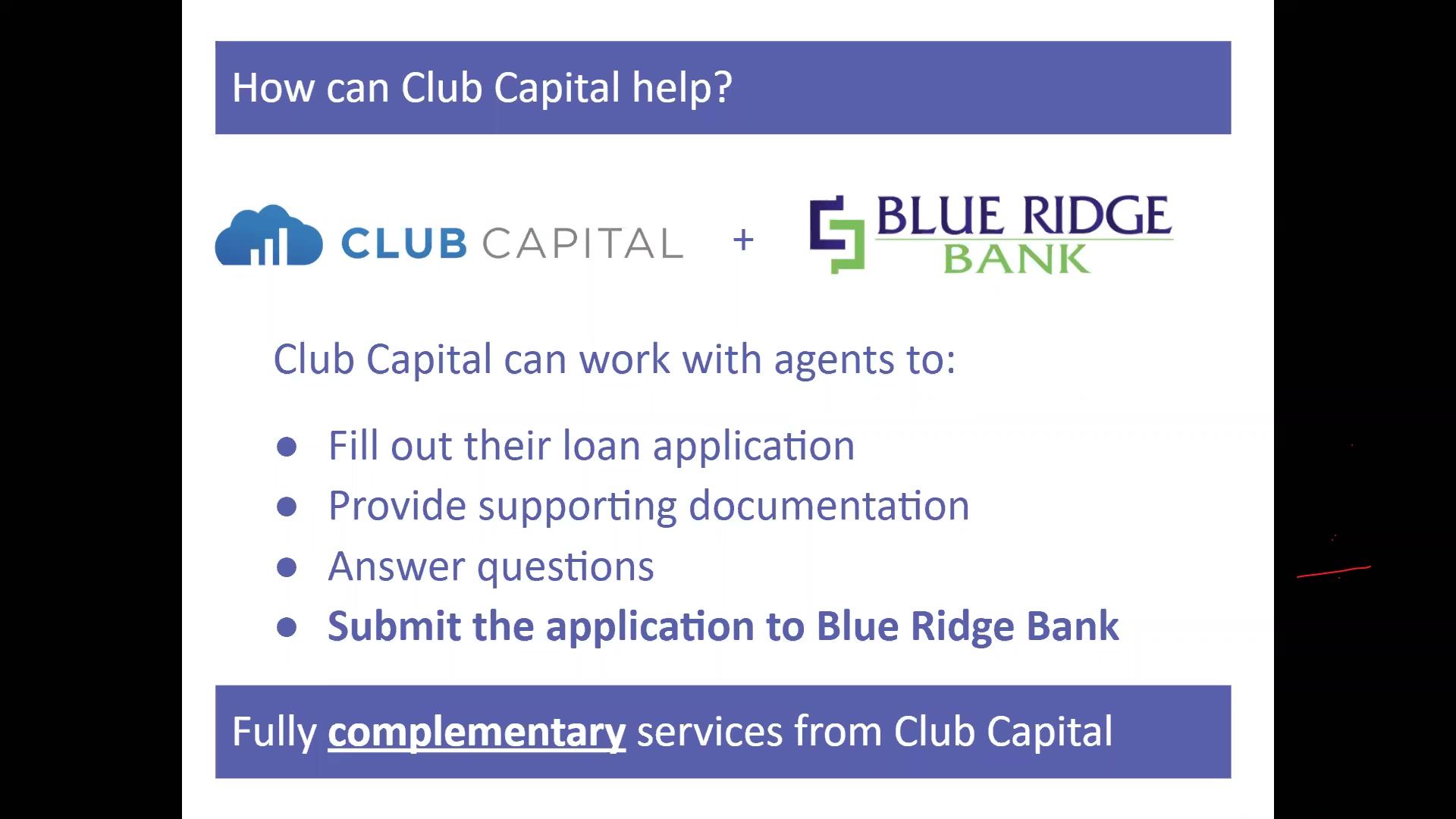 Club Capital_Webinar_COVID 19 PPP Loans