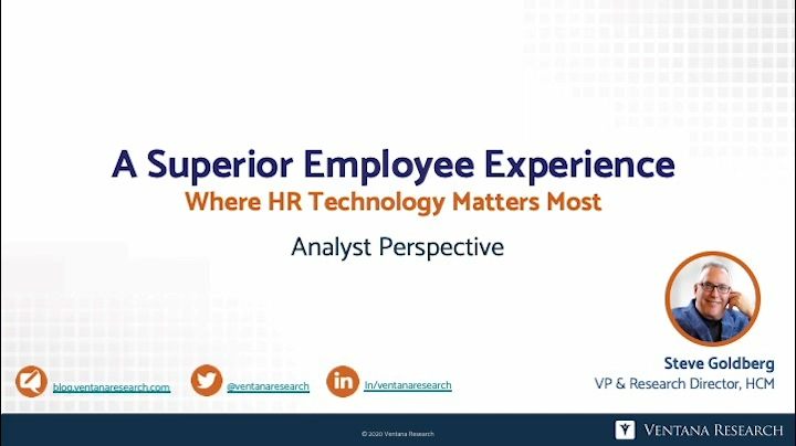 Ventana Research AP The Employee Experience 2020