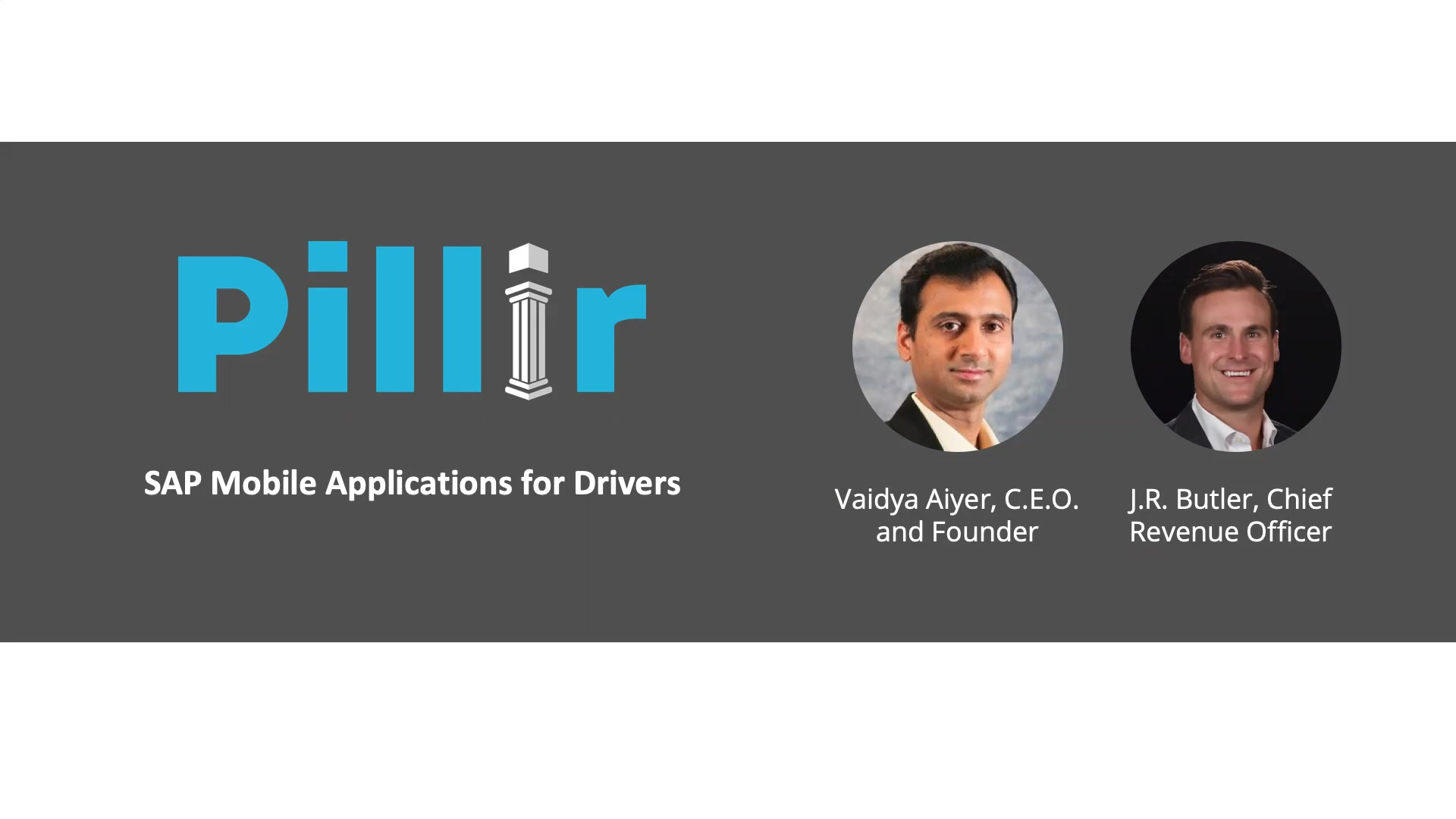 SAP mobile applications for drivers - pre-recorded