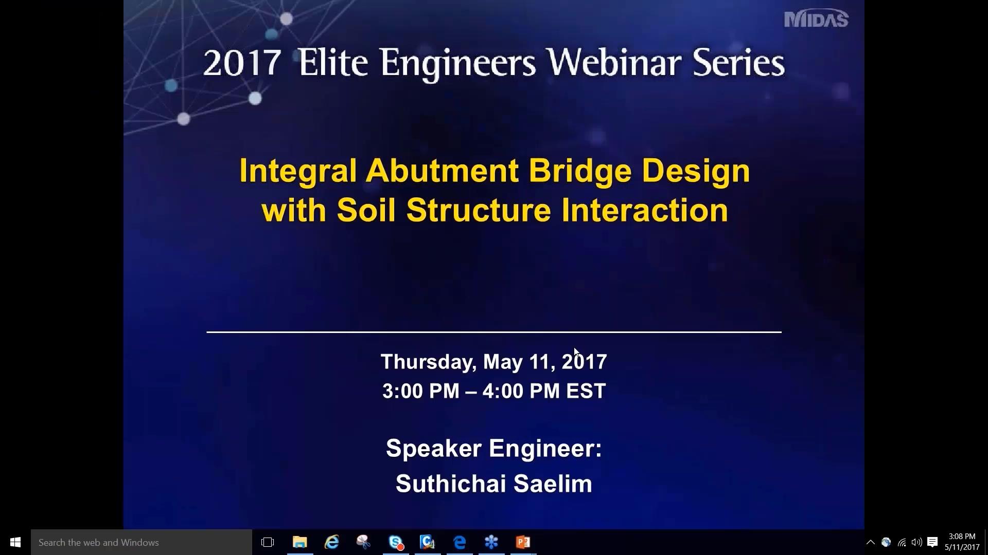 Intergral Autment Bridge Design with Soil Structure Interaction