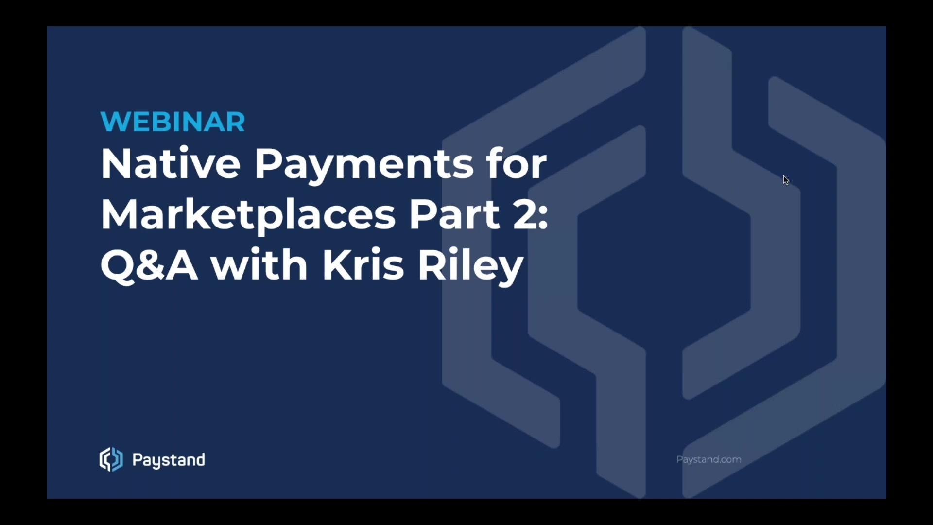 Native Payments for Marketplaces Part 2 Q&A with Kris Riley