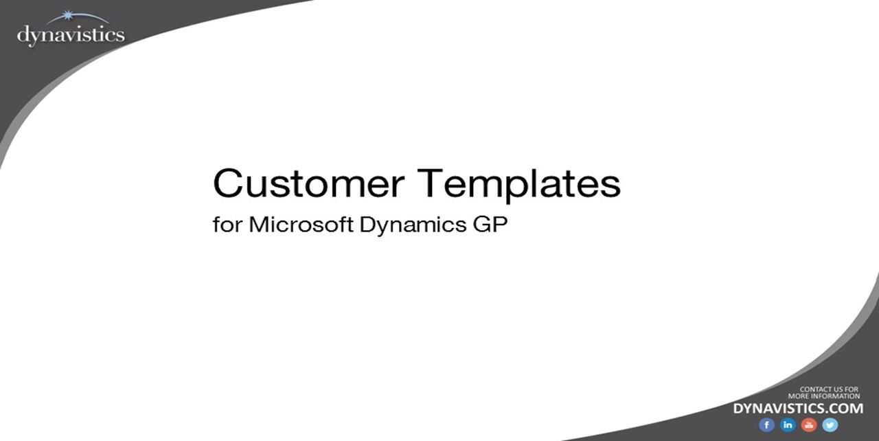 How Customer Templates Speed Order Entry in Dynamics GP