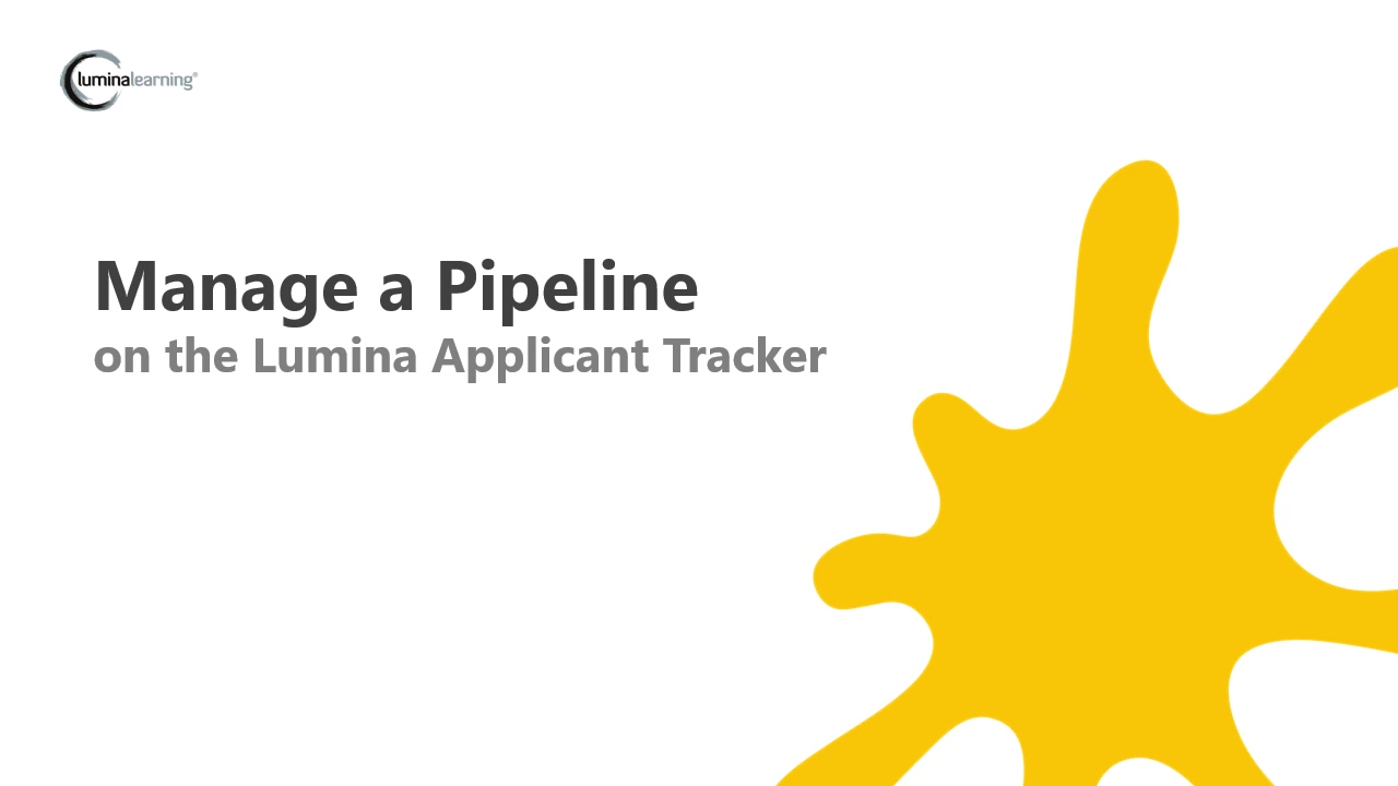 Manage a Pipeline