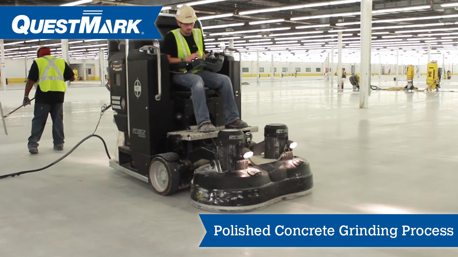 Polished Concrete Grinding Process Concrete Floor Grinder Diamondquest Questmark