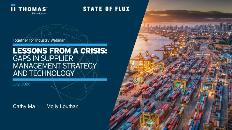 July 2020 Webinar - Lessons from a crisis