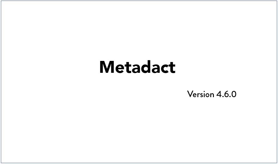 Q4 2019 Metadact Update Video
