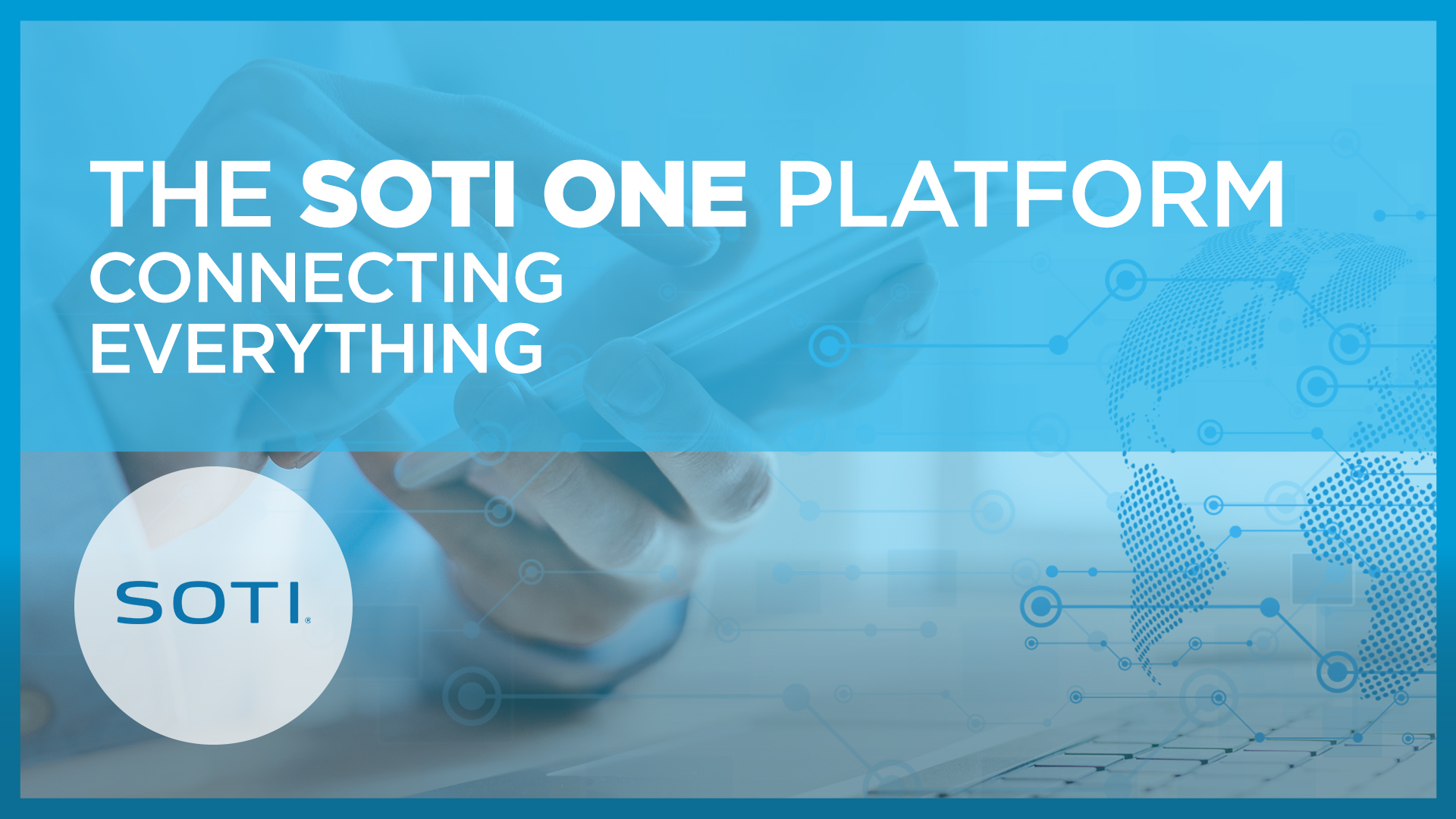 SOTI-One user controlling a phone with a laptop - Video link