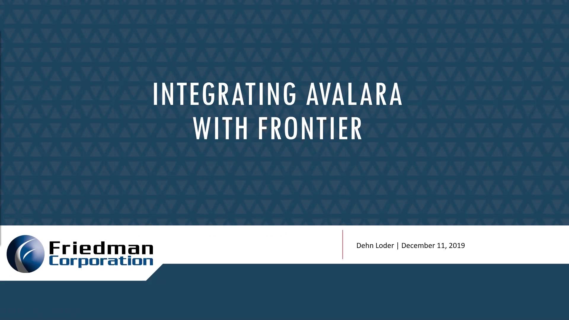 FC Webinar Integrating Avalara 2019-12-11
