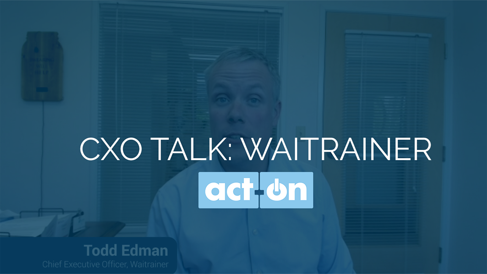 CXO Talk: Waitrainer