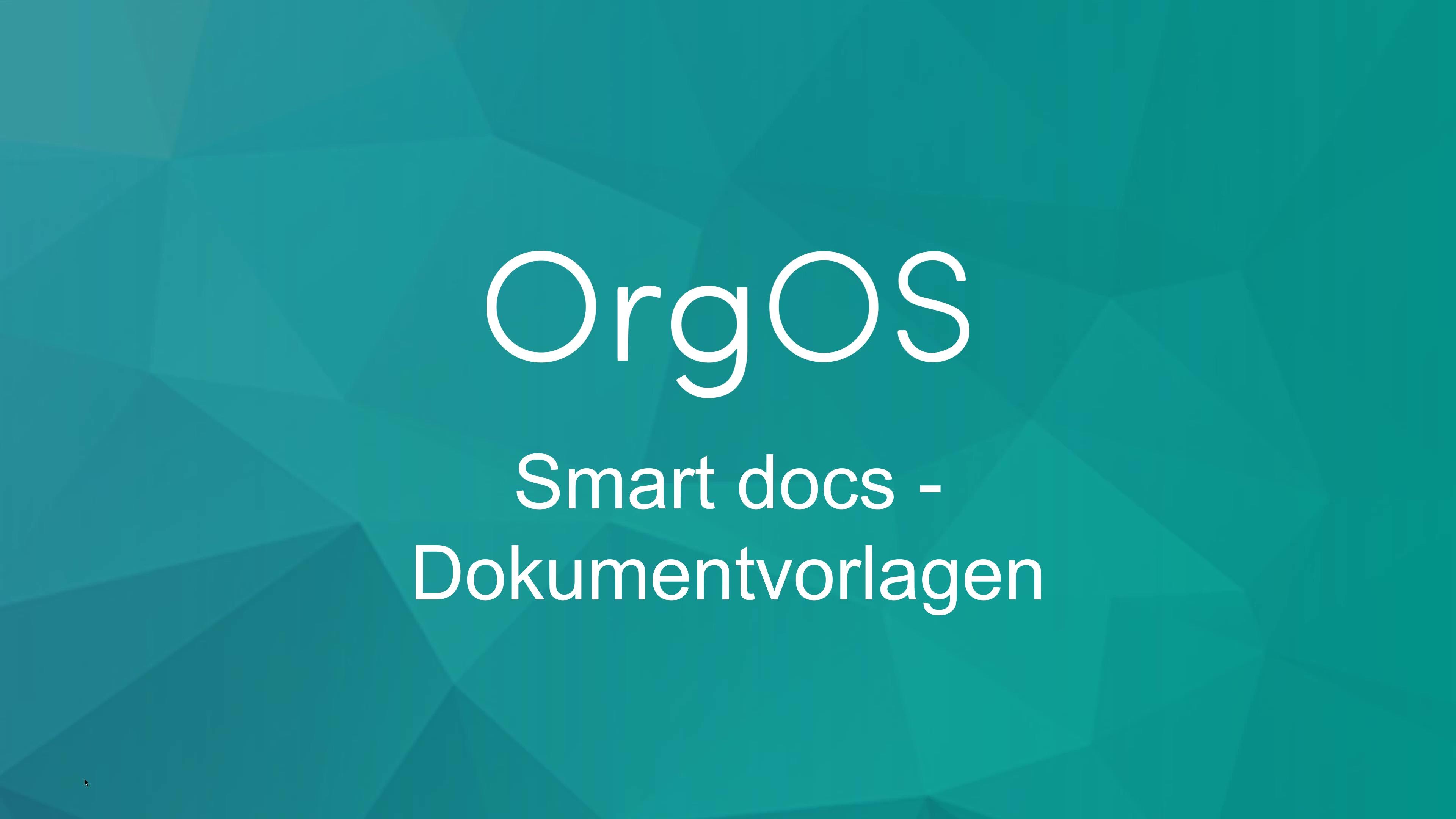 Smart docs - Dokumentvorlagen