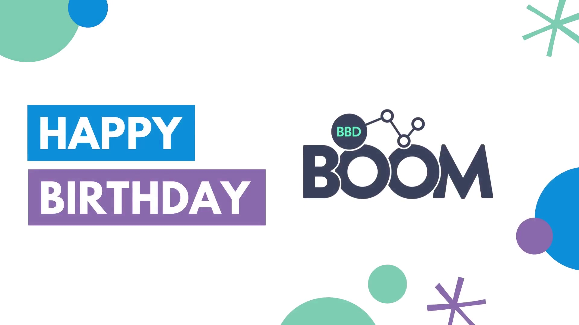 BBD Boom is now 3 years old!