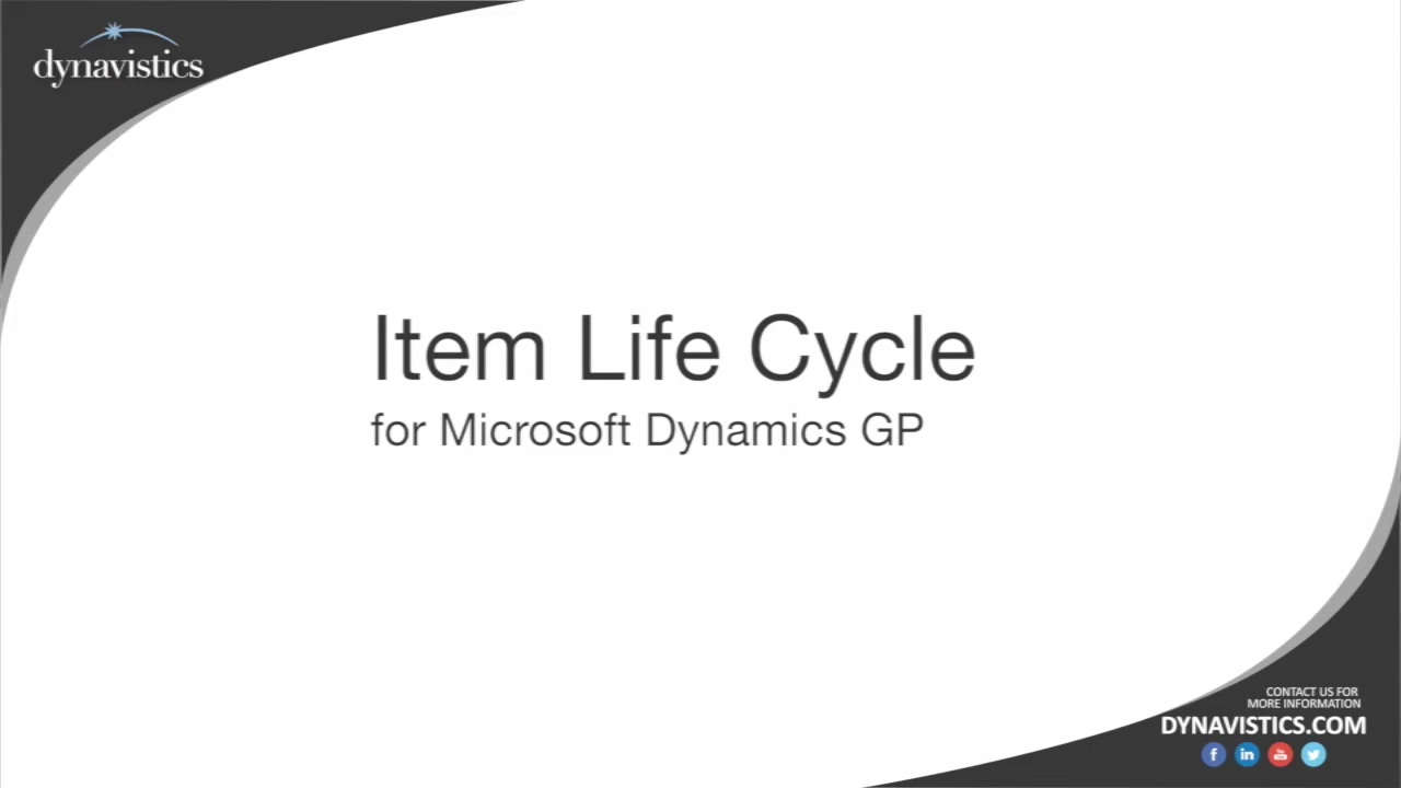 How to Manage Item Life Cycle in Dynamics GP