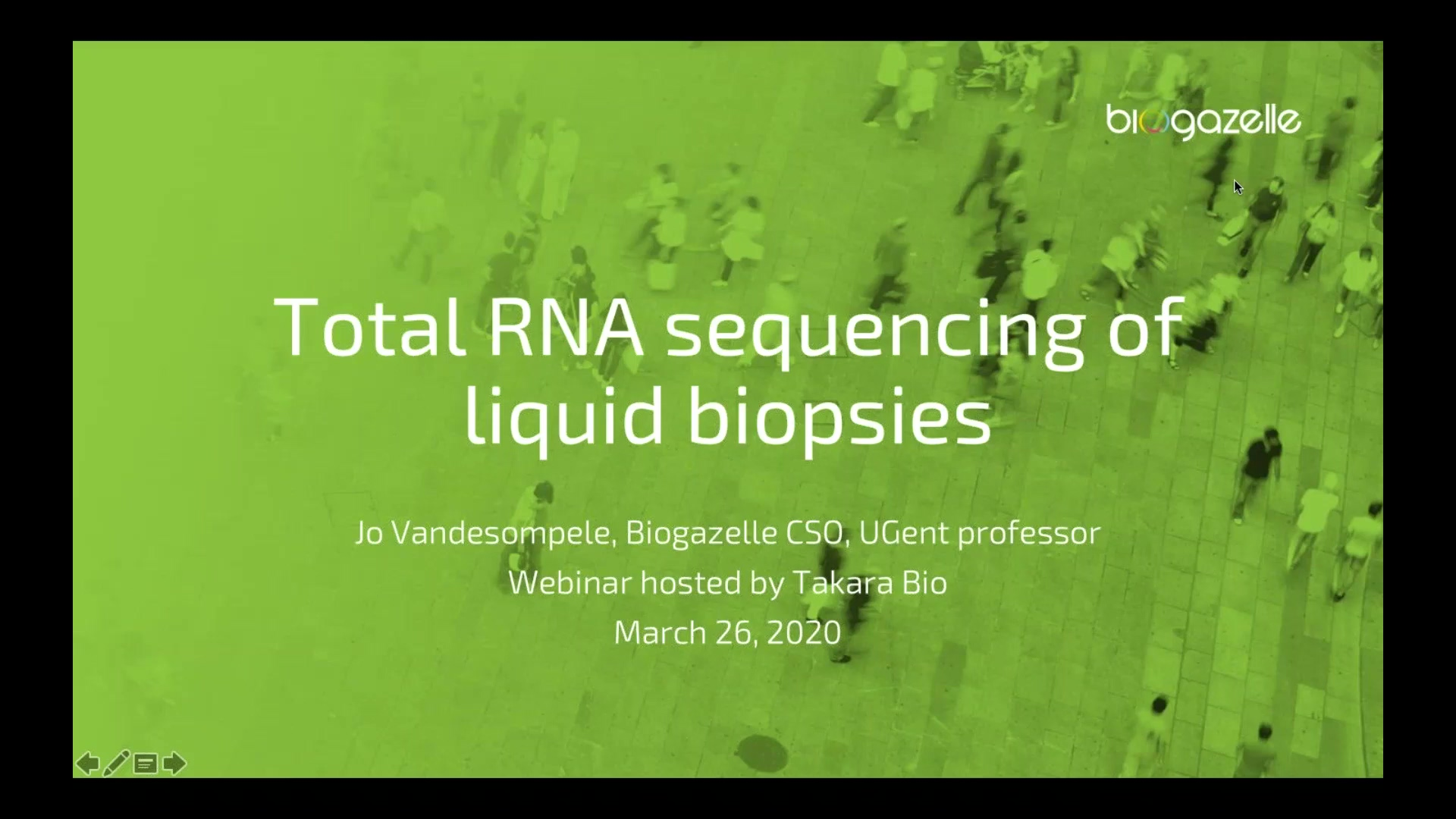 Total RNA sequencing of liquid biopsies