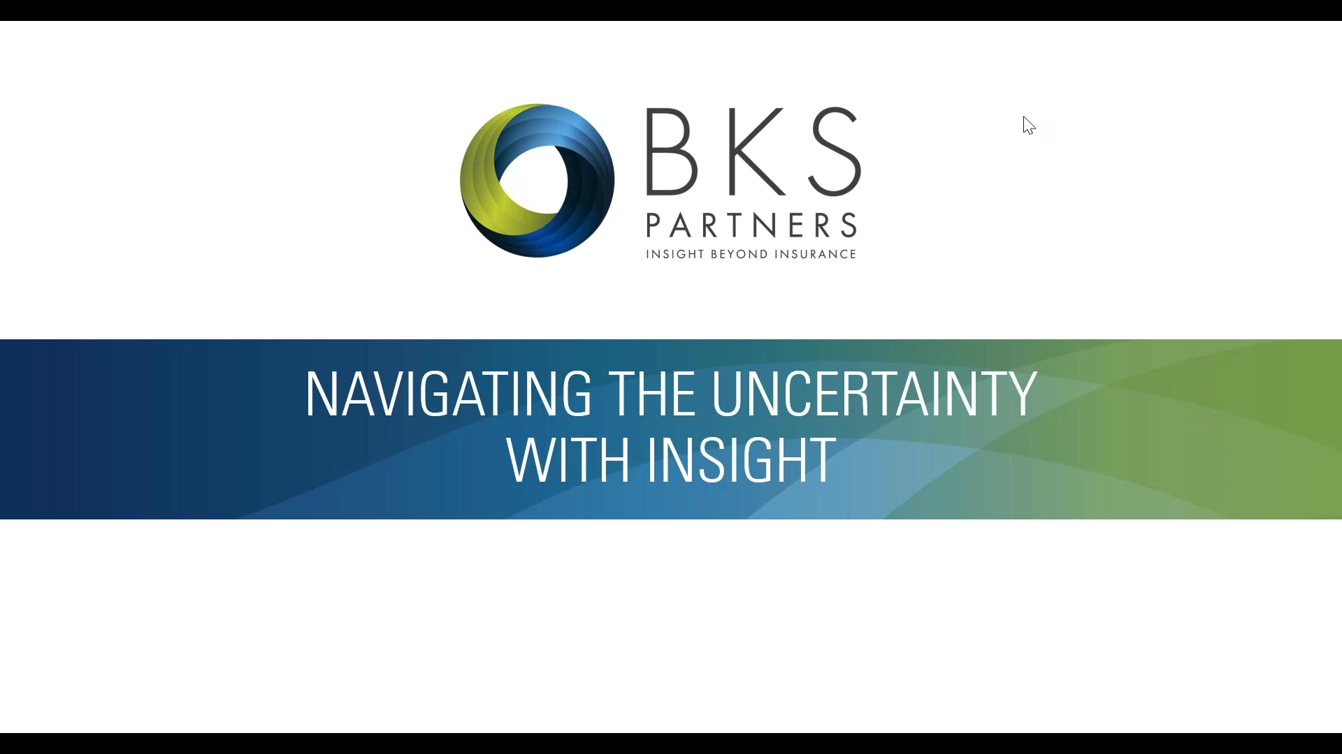 Navigating the Uncertainty with Insight - P&C Market Outlook