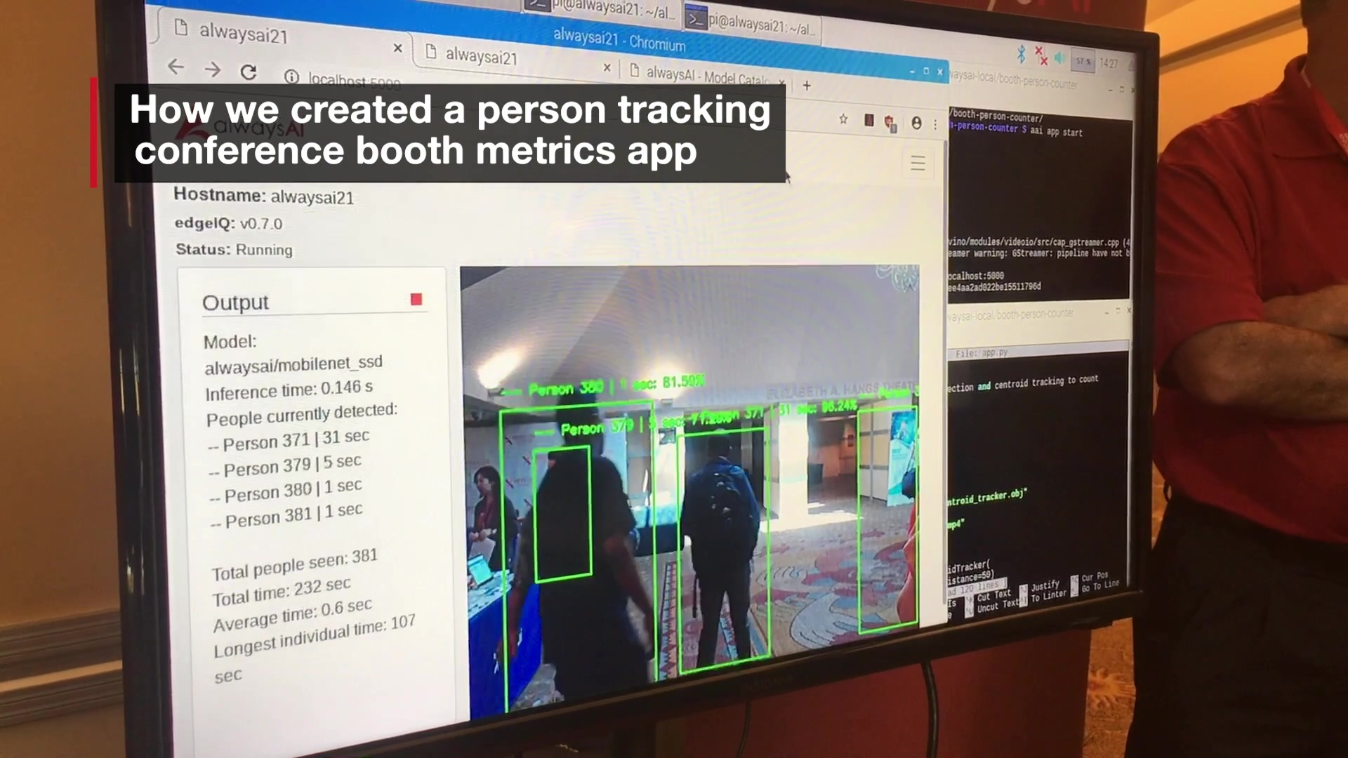 alwaysAI Demo 5 - Conference Booth Analytics App