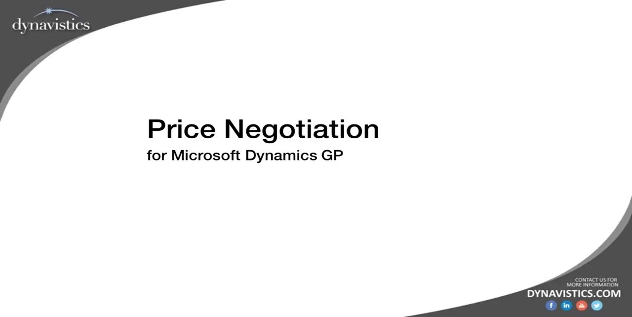 How to Manage Price Negotiation in Dynamics GP