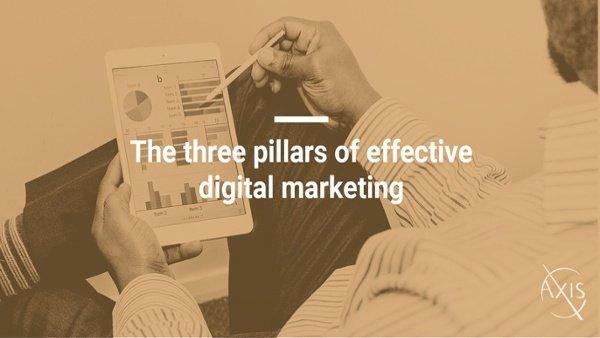 3 pillars of effective digital marketing