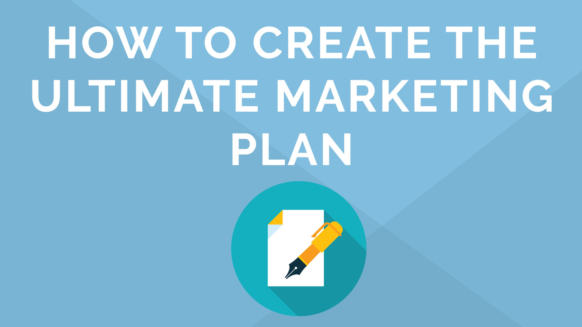 Ultimate Marketing Plan Webinar in 15 minutes