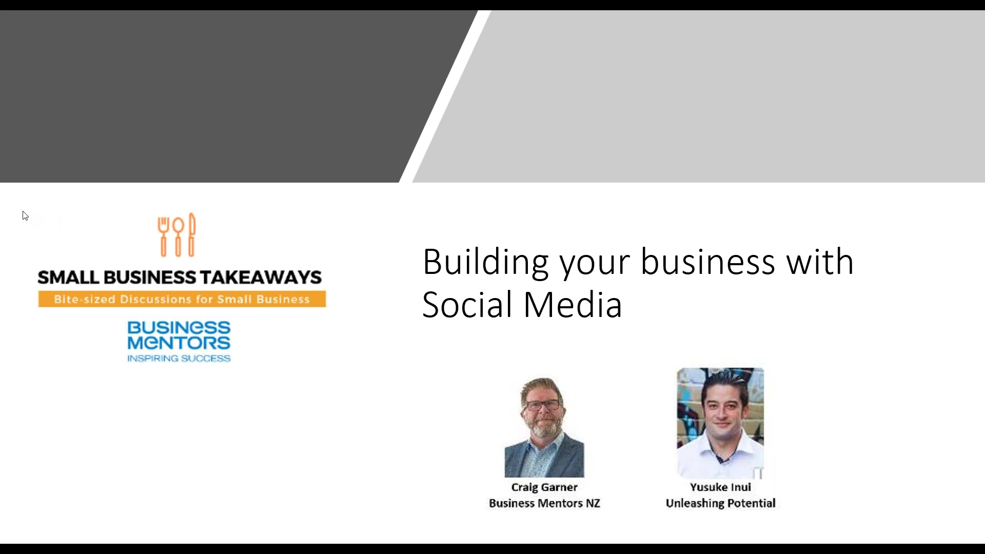 Business Mentors NZ_ Small Business Takeaways - Building your Business with Social Media