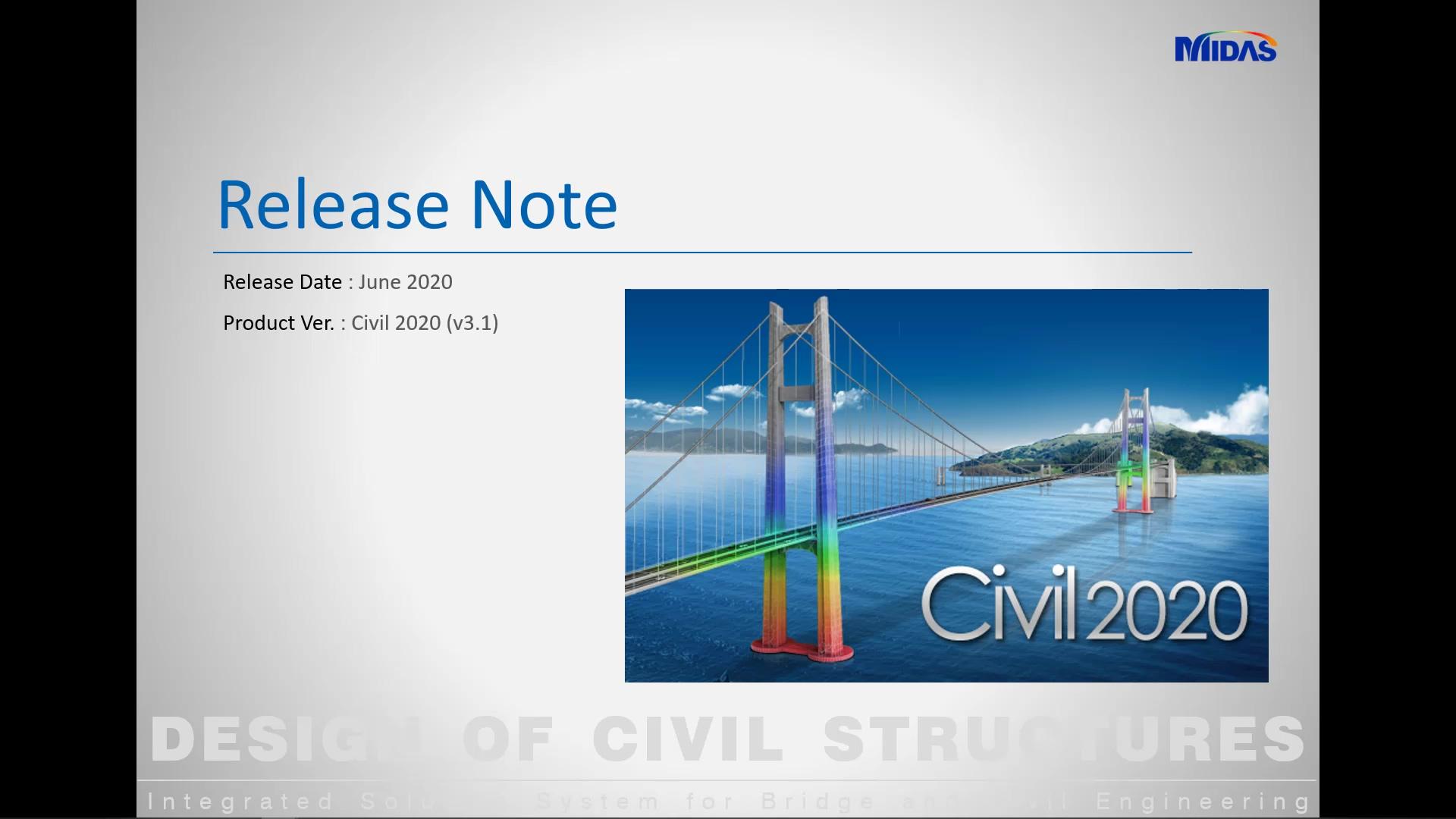 midas Civil 2020 v31 release