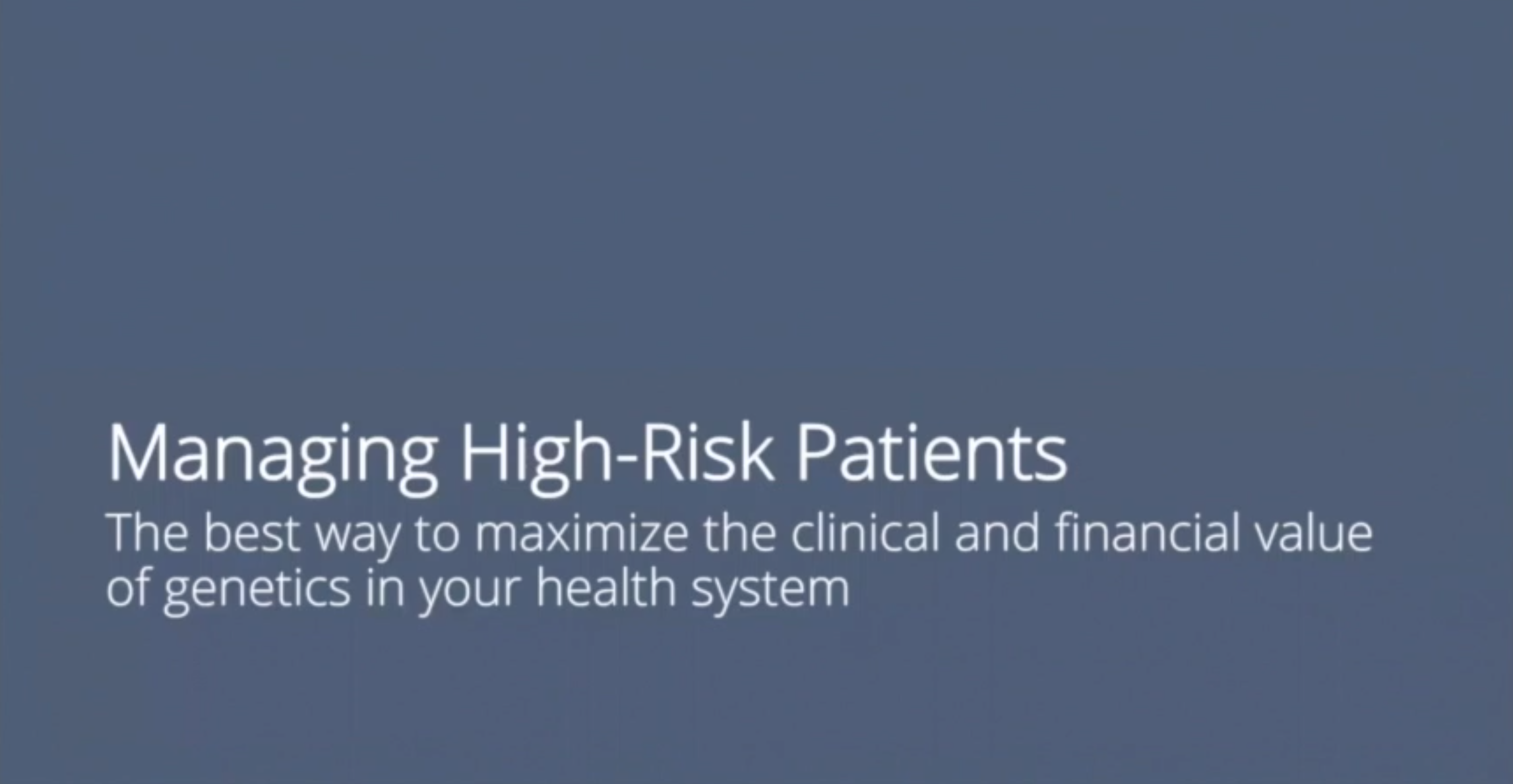 04_Mange high-risk patients