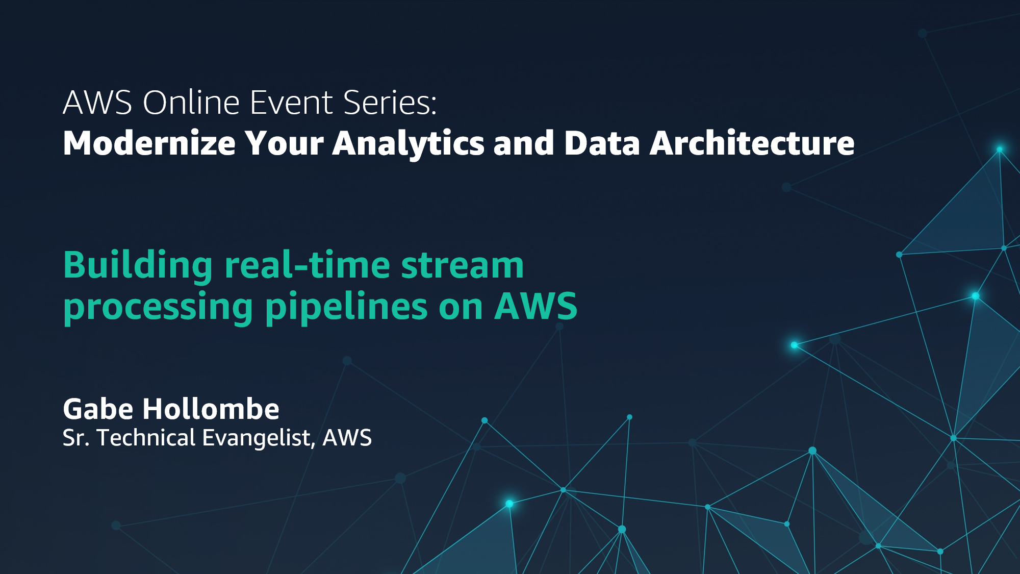 Building real-time stream processing pipelines on AWS