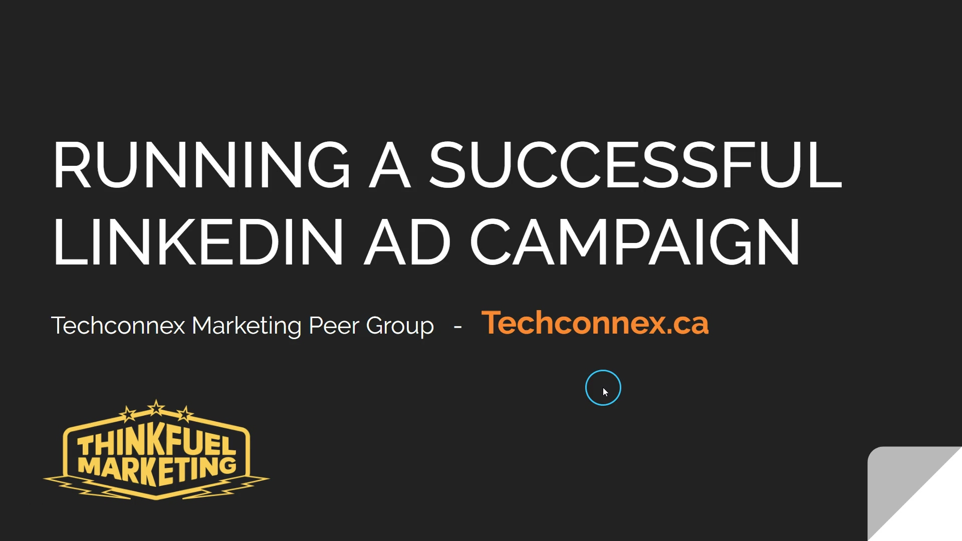 Running a Successful LinkedIn Ad Campaign - Marketing Peer Group