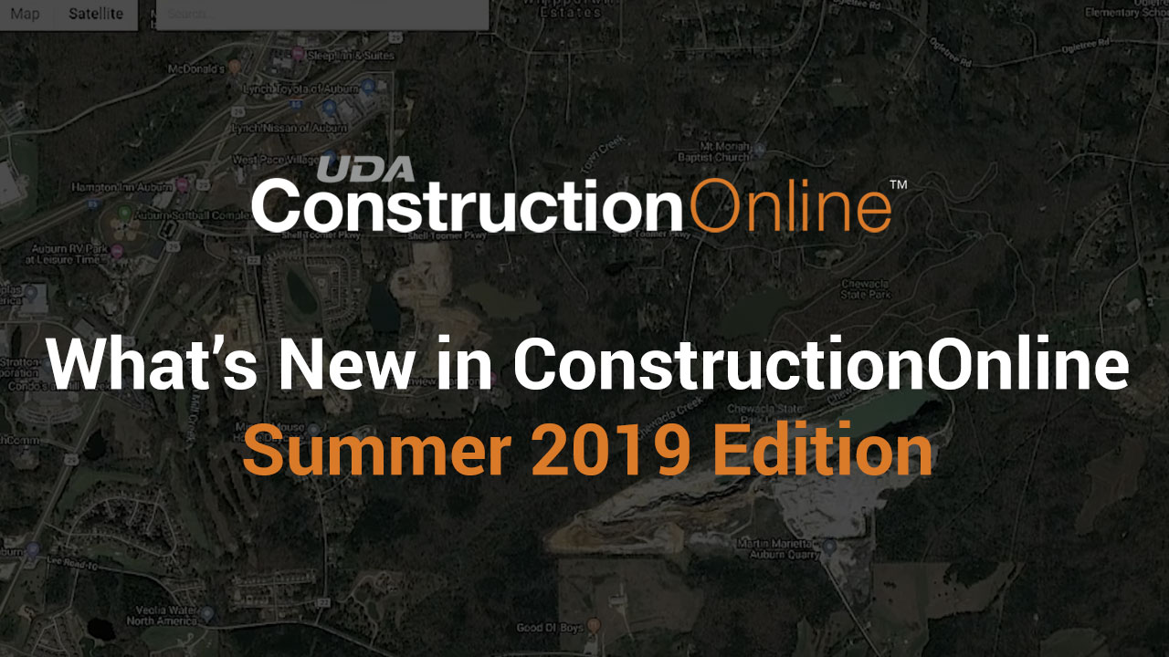 New in ConstructionOnline - Summer 2019