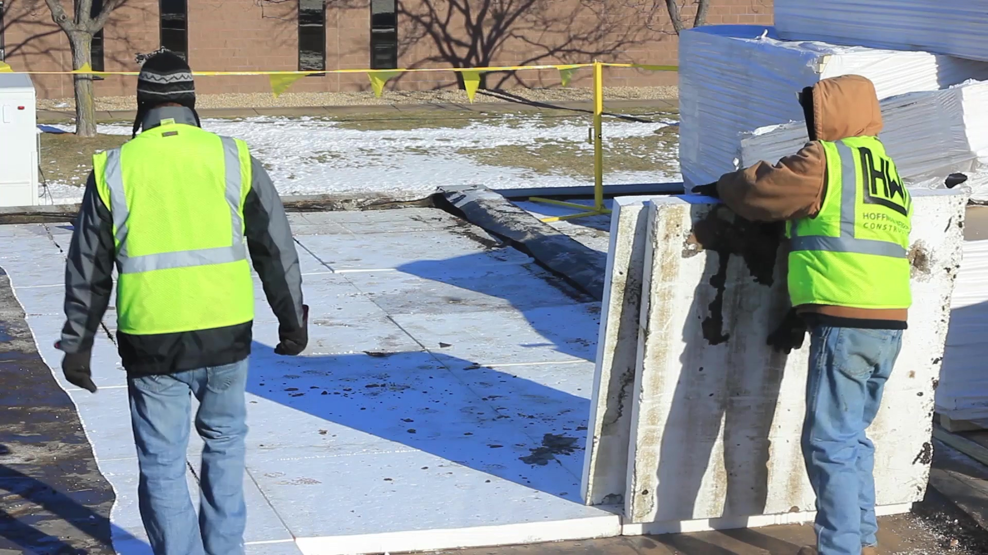Flat Roofing - Commercial Buildings - HW Construction