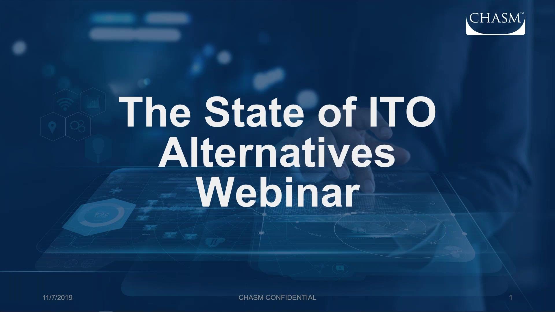 ( WEBINAR ) The State of - ITO Alternatives