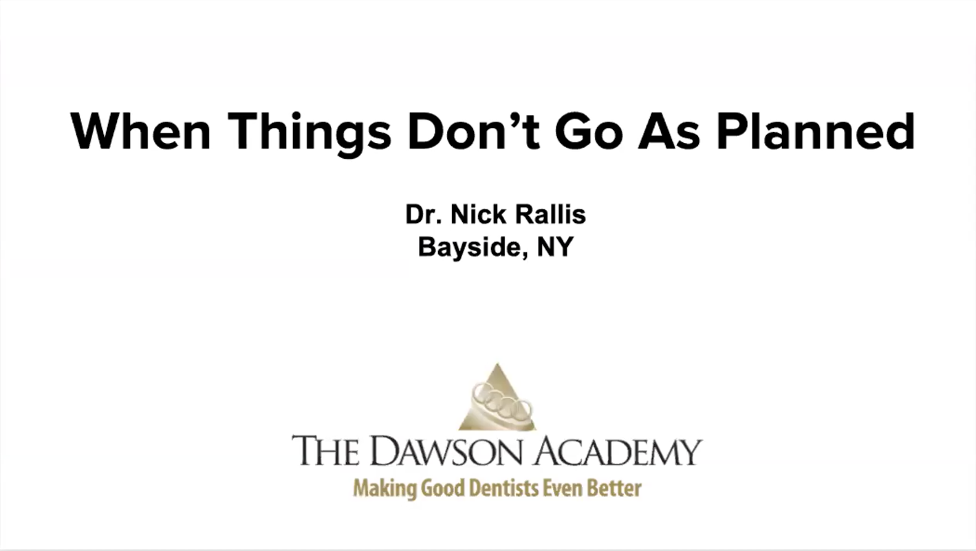 Webinar: When Things Don't Go As Planned