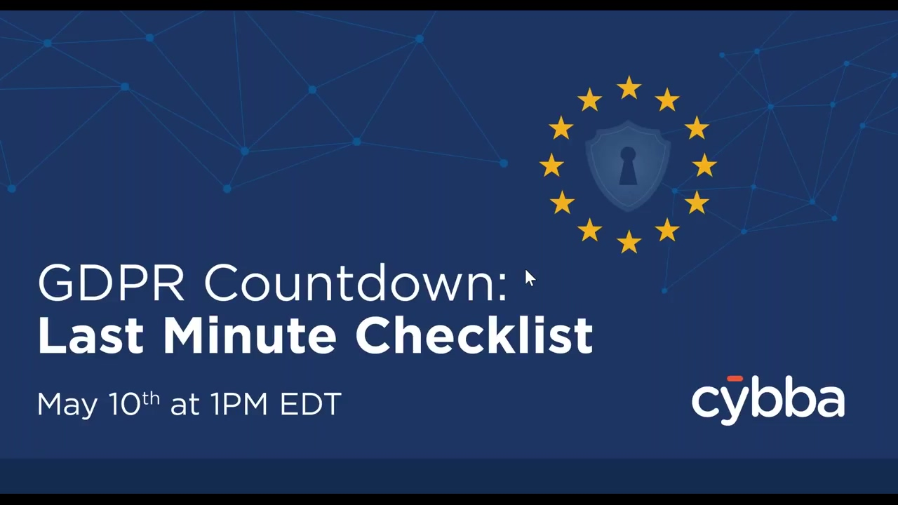 GDPR Countdown Last Minute Checklist (Final)