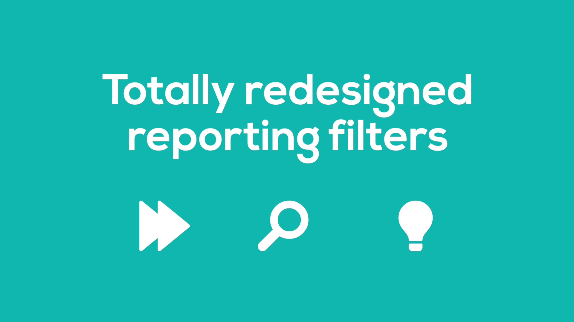 Reporting Filters - available