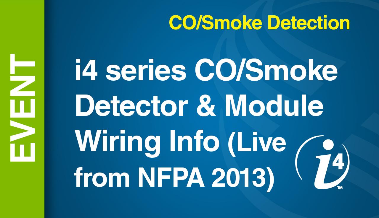 CO/Smoke -- i4 series CO/Smoke Detector - Module Wiring Info (Live ...