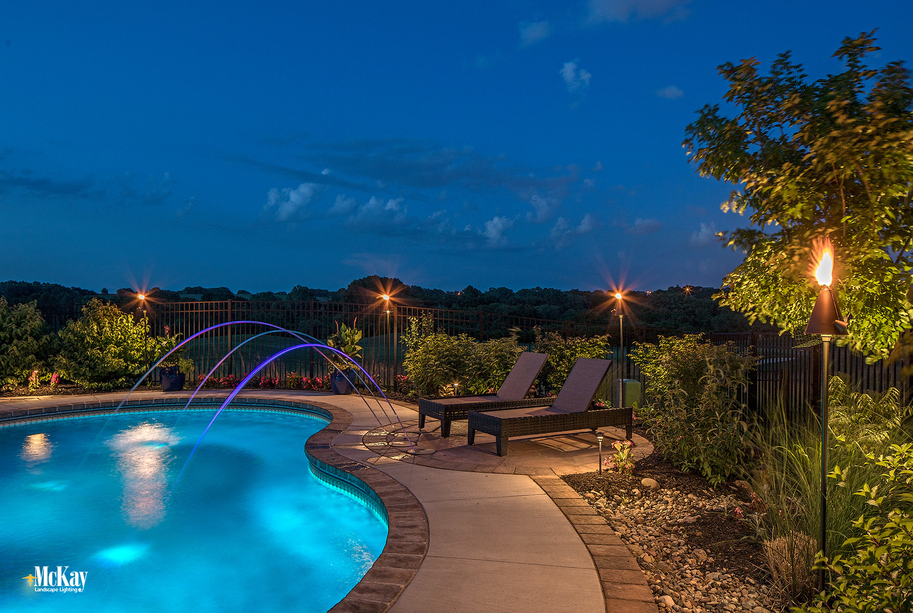 Resort-Style Pool Lighting - McKay NEW