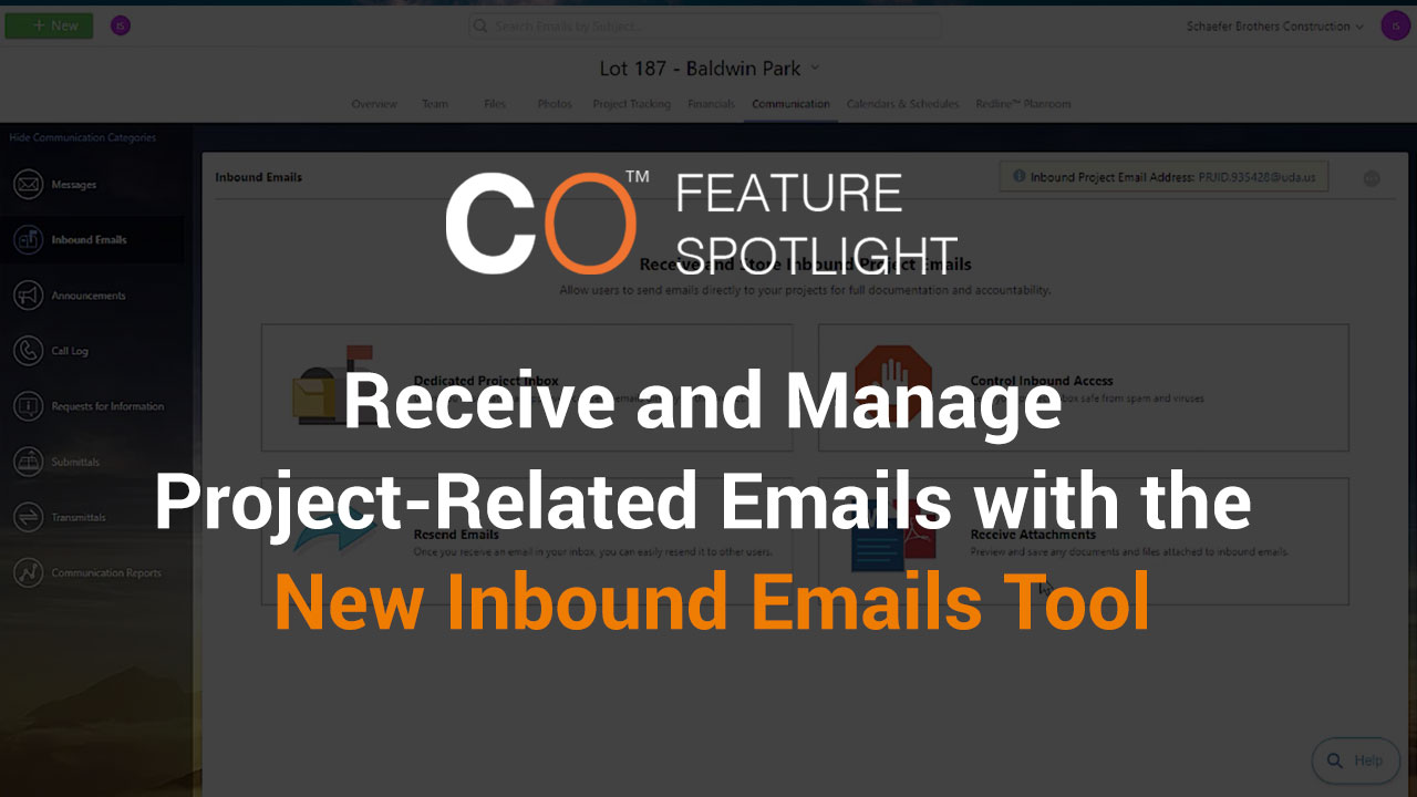 Receive and Manage Project-Related Emails with the New Inbound Emails Tool