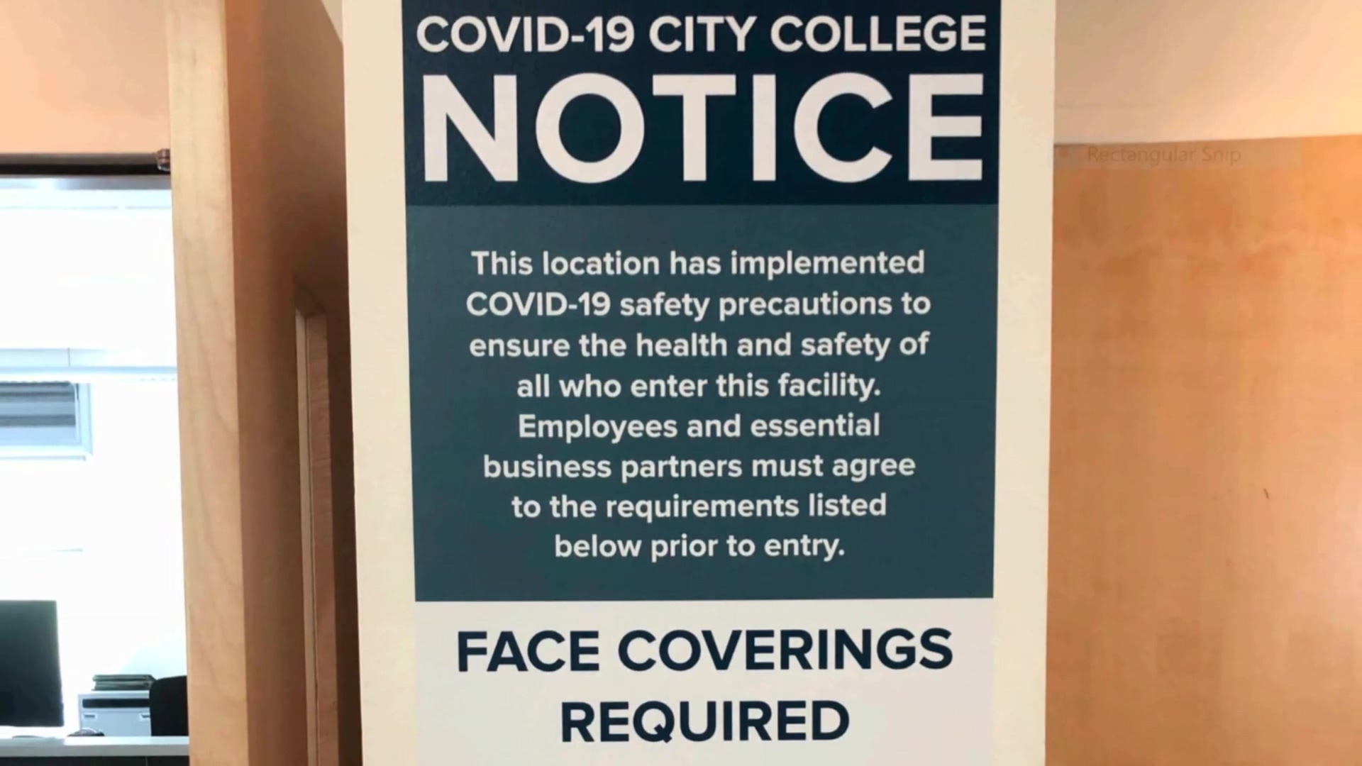 BarkerBlue CoVid Safety Signs-OWP-SF Community College