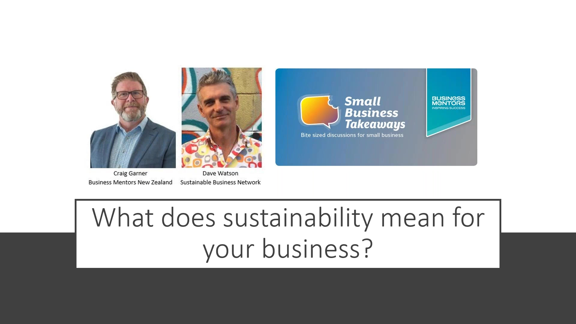 Business Mentors NZ Small Business Takeaways_ What does sustainability mean for your business_