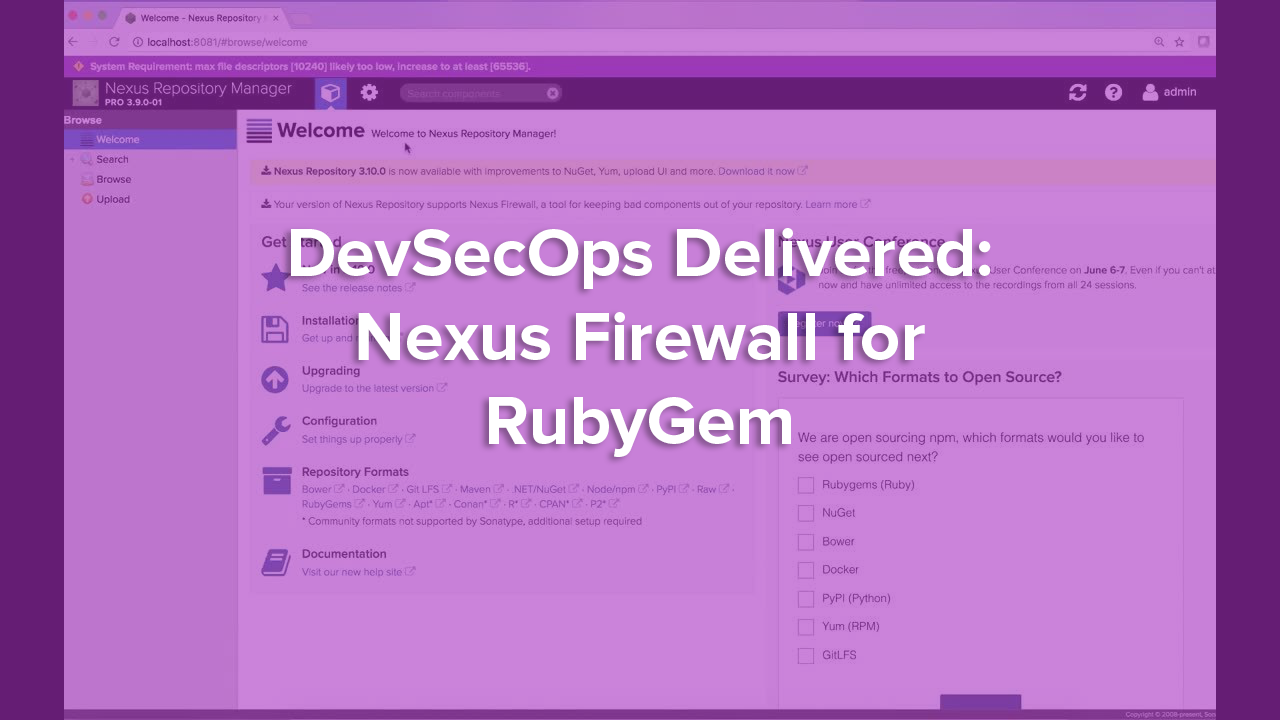 DevSecOps Delivered: Nexus Firewall for RubyGem