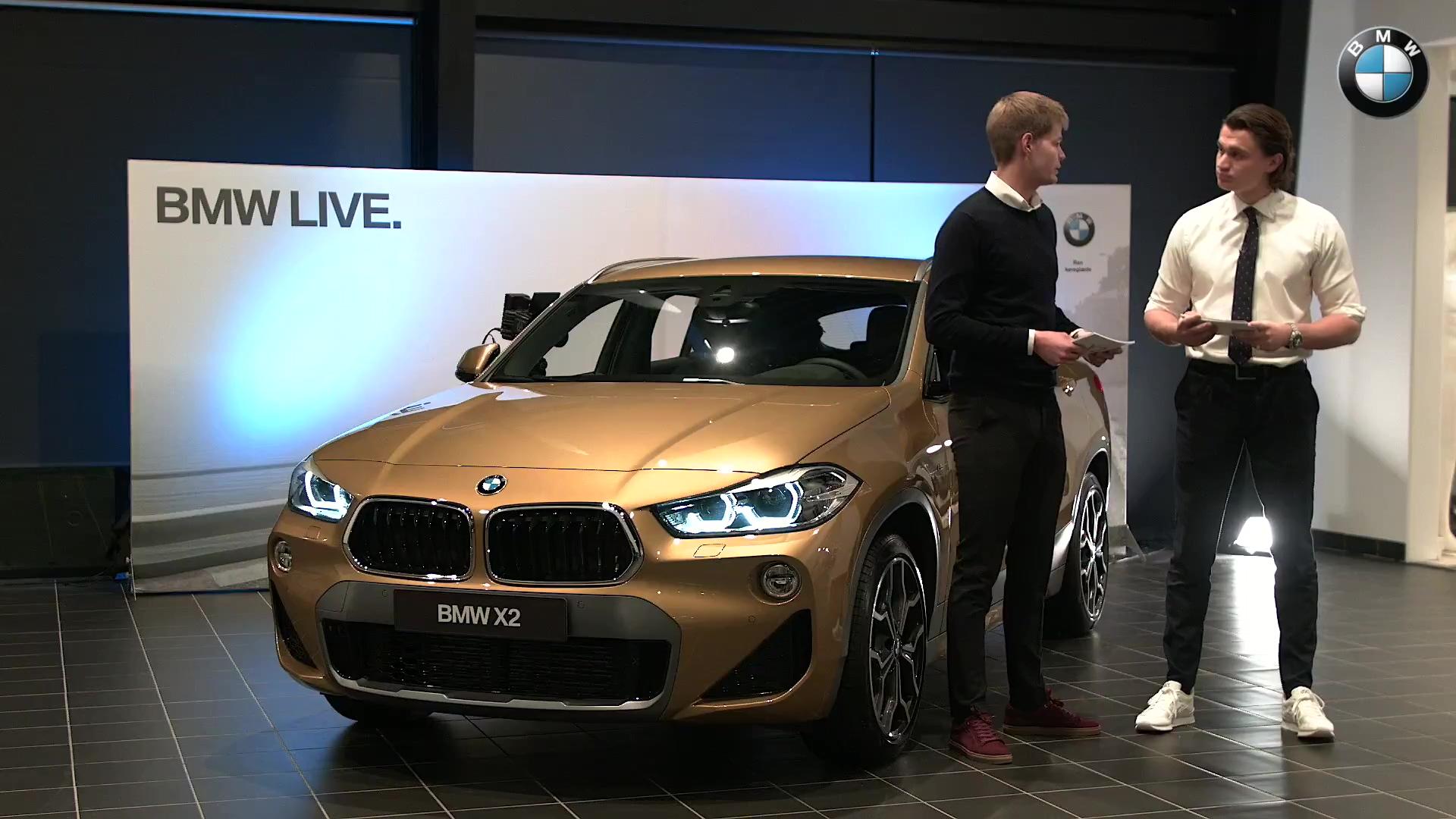 BMW X2 Live med dækbilleder