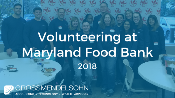 Maryland Food Bank Volunteer Day 2018