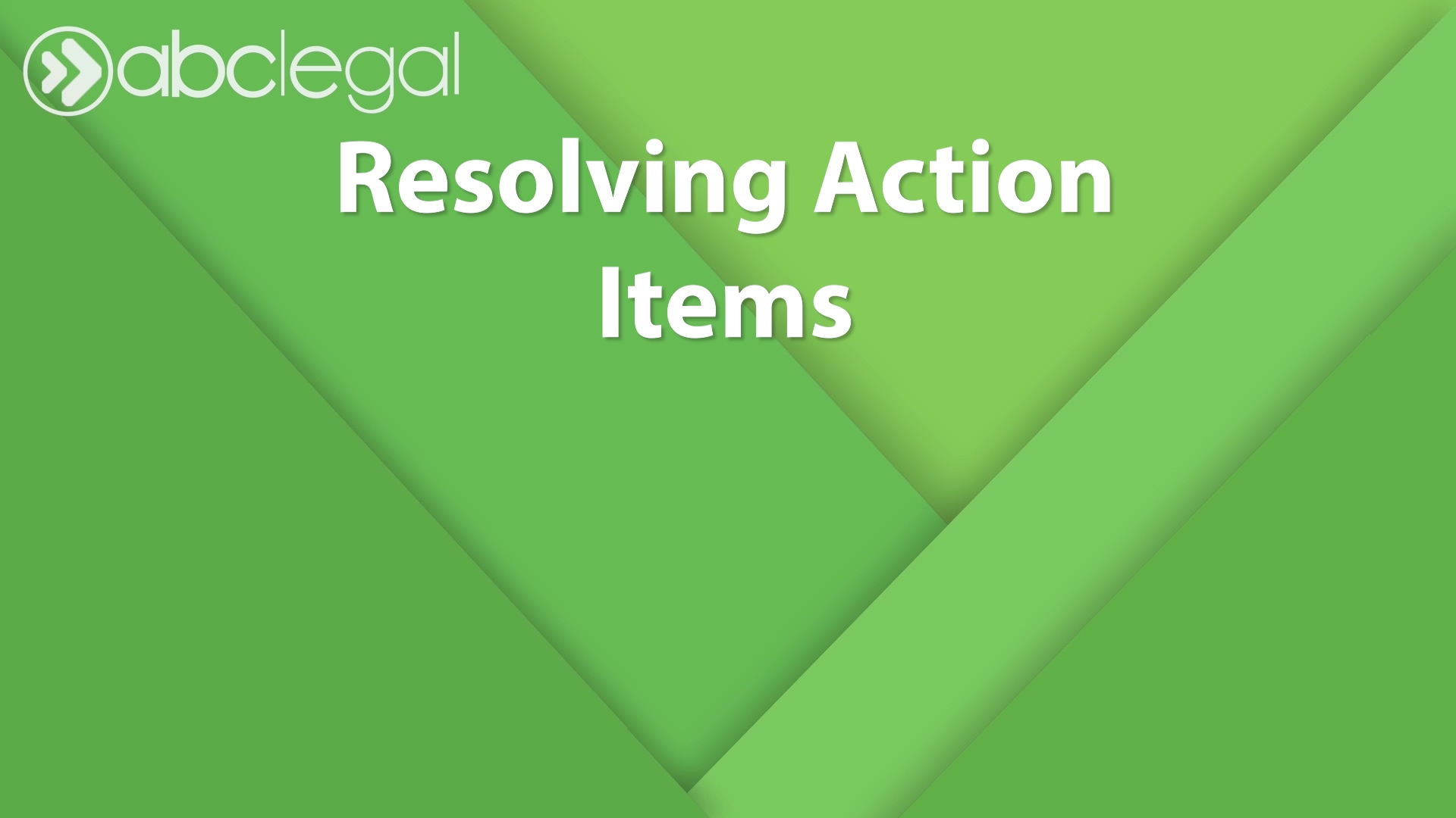 How to Resolve an Action Item Modified
