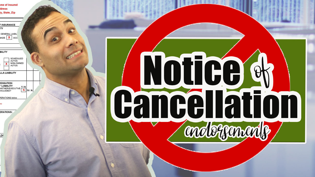 Notice of Cancellation - take 2