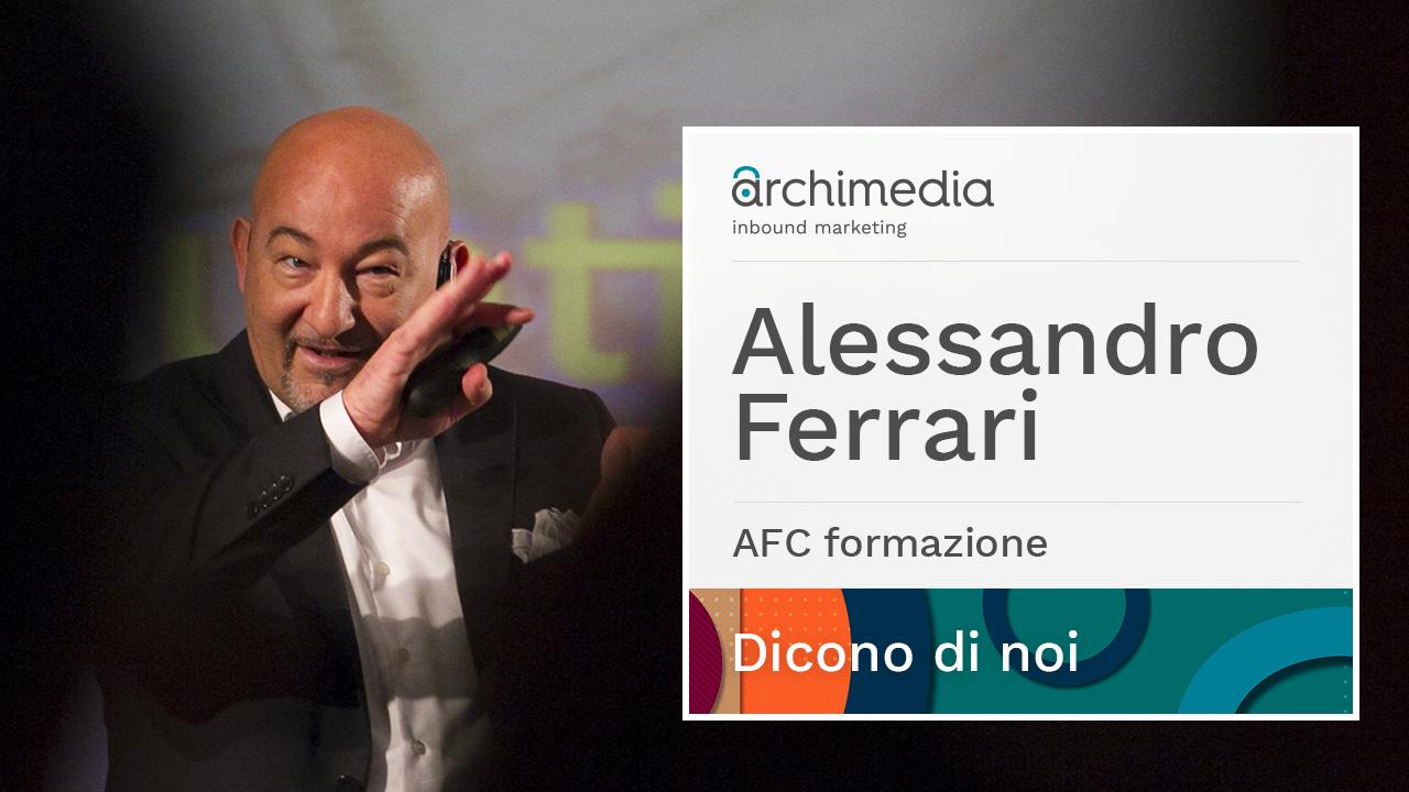 Dicono di Archimedia - Alessandro Ferrari _ formatore